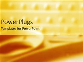 PowerPlugs: PowerPoint template with a plain yellow dotted background with a lower golden strip