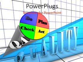 PowerPlugs: PowerPoint template with plan, Do, Check, Act iterative problem solving process with grid