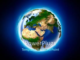 PowerPlugs: PowerPoint template with planet earth in detail with forests and deserts