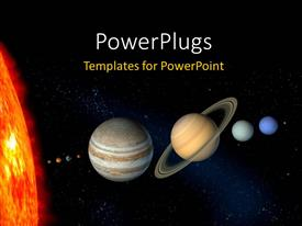 PowerPlugs: PowerPoint template with planets and sun with other planets from our solar system