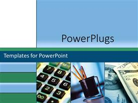 PowerPlugs: PowerPoint template with planning business sales marketing accounting finances collage