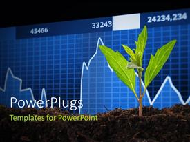 PowerPlugs: PowerPoint template with a plant and a financial report in the background