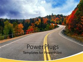 PowerPlugs: PowerPoint template with plants of different colors along the side of highway in northern Ontario Canada