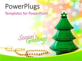 PowerPlugs: PowerPoint template with a close up view of a green colored jelly Christmas tree
