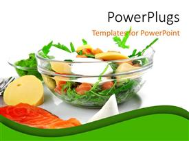 PowerPlugs: PowerPoint template with a plate with a number of vegetables