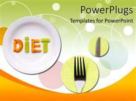 PowerPlugs: PowerPoint template with a plates , a knife and a fork