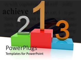 PowerPlugs: PowerPoint template with the podium along with mentioning the positions