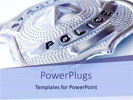 PowerPlugs: PowerPoint template with a police badge with white background