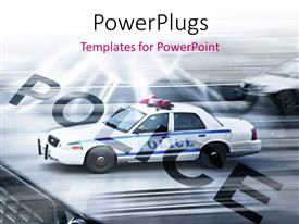 PowerPlugs: PowerPoint template with police cars running on the streets of New York with motion blur