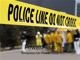 PowerPlugs: PowerPoint template with police do not cross line for demarcation at crime scene