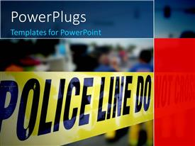 PowerPlugs: PowerPoint template with police line - do not cross message with accident scene