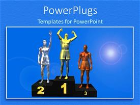 PowerPlugs: PowerPoint template with the position holders on the winning podium