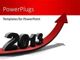 PowerPlugs: PowerPoint template with positive , prosperous new year ahead with white color