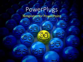 PowerPlugs: PowerPoint template with positive smiley in the middle of the negatives with black color