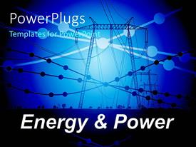 PowerPlugs: PowerPoint template with power line carriers with small circles showing connection points
