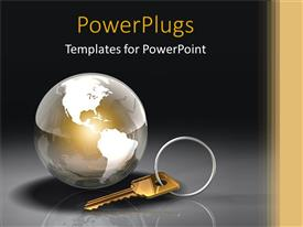 PowerPlugs: PowerPoint template with problem solving humanity key and lock problem solution globe world