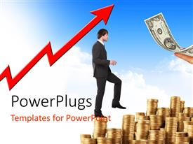 PowerPlugs: PowerPoint template with a professional on collection of coins