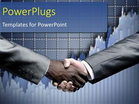 PowerPlugs: PowerPoint template with a professional handshake with graph in the background