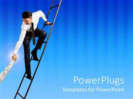 PowerPlugs: PowerPoint template with a professional helping the other one