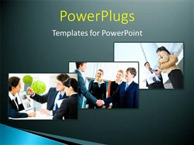 PowerPoint template displaying a professional meetup outside the office