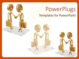 PowerPlugs: PowerPoint template with a professional meetup with white background