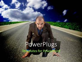 PowerPlugs: PowerPoint template with a professional ready for the race