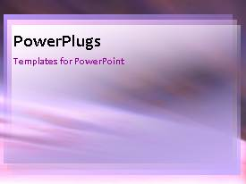 PowerPlugs: PowerPoint template with a purple background and a bullet point