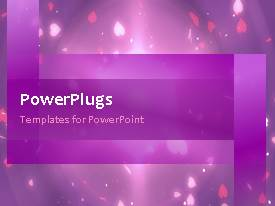 PowerPlugs: PowerPoint template with a purple background with a bullet point and place for text