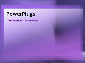 PowerPlugs: PowerPoint template with a purple background with a number of bullet points