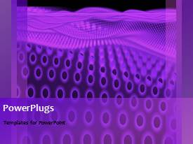 PowerPlugs: PowerPoint template with a purple background with a number of circles in background
