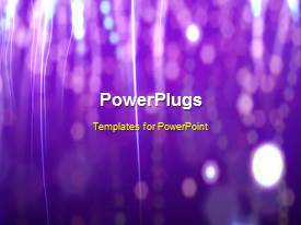 PowerPlugs: PowerPoint template with a purple background with a number of fireworks