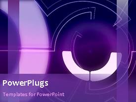 PowerPoint template displaying a purple background with place for text