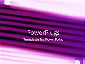 PowerPlugs: PowerPoint template with purple colored horizontal lines over white background