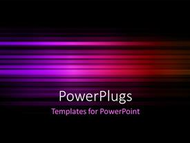 PowerPoint template displaying purple colored motion blur abstract background
