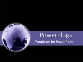 PowerPoint template displaying purple glowing earth globe over black background