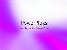 PowerPlugs: PowerPoint template with purple paper smooth gradient background
