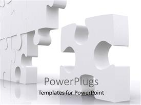 PowerPlugs: PowerPoint template with puzzle piece next to the big group standing out with white color