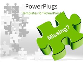 PowerPlugs: PowerPoint template with a puzzle piece with a number of others in the background