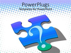 PowerPlugs: PowerPoint template with puzzle piece with question mark, problem solving, decision making