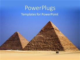 PowerPlugs: PowerPoint template with the pyramids of the Egypt with sky in the background
