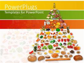PowerPlugs: PowerPoint template with pyramids of fruits and vegetables