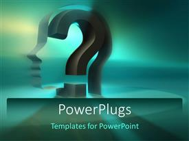 PowerPlugs: PowerPoint template with a question mark in the background with place for text