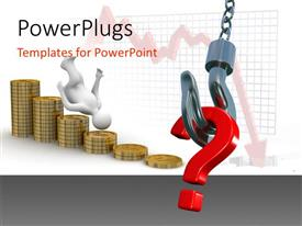 PowerPlugs: PowerPoint template with a question mark being lifted with coins in the background