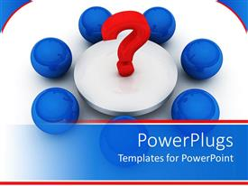 PowerPlugs: PowerPoint template with a question mark being surrounded by blue balls