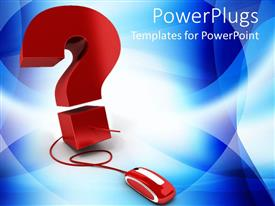 PowerPlugs: PowerPoint template with a question mark connected to a mouse
