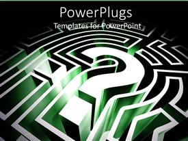 PowerPlugs: PowerPoint template with a question mark with dark background
