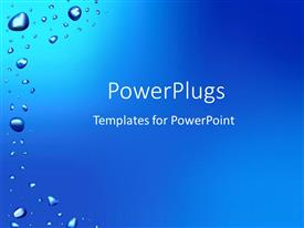 PowerPlugs: PowerPoint template with rain drops on window after rain as a metaphor on a blue background