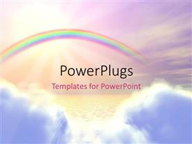 PowerPlugs: PowerPoint template with a rainbow in the background with place for text