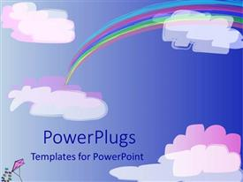 PowerPlugs: PowerPoint template with a rainbow and clouds in the sky