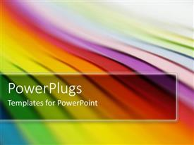 PowerPlugs: PowerPoint template with rainbow ribbons red orange yellow purple green blue multicolored paper abstract